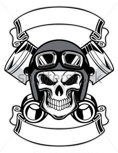 Skull Wearing Retro Motorbike Helmet Tattoo Design in Real Photo, Pictures, Images and Sketches – Tattoo Collections Logo D'art, Art Logo, Biker Tattoos, Skull Tattoos, Helmet Tattoo, Skull Helmet, Retro, Vintage Biker, Motorcycle Art