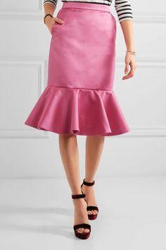 J.Crew - Dante Ruffled Duchesse-satin Skirt - Pink - US10