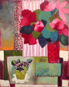 Red Roses + Violets by Annie OBrien Gonzales