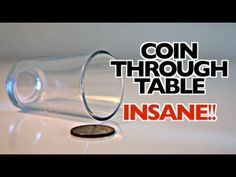 This coin through a table trick is pretty cool.I tried it out for the first ime today, so I wanted to share this with you all. How To Do Magic, Learn Magic Tricks, Magic Tricks For Kids, Magic Tricks Revealed, Easy Magic, Hand Tricks, Coin Tricks, Physics Tricks, Magic Illusions