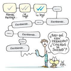La in-comunicación moderna (WhatsApp) by @Nikgaturro