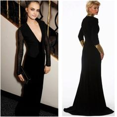 We love Cara Delevingne's style here. Steal it right now with our NEW IN #NikiKapoor black longsleeve gown for a simple yet chic look!  http://www.cargoclothing.com/shop/detail.aspx?pid=5054