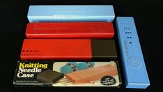 Knitting Needle Case, Knitting Needles, Needle Gauge, Square Roots, Gauges, Inventions, Over The Years, Boxes