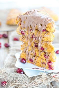Whole Wheat Sweet Potato Cranberry Scones | chocolateandcarrots.com