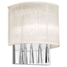 Josephine 2 Light Crystal Wall Sconce