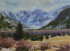 Daily Painters Of Colorado: Valley Below Ouray, Original Oil Landscape Painting by Western Colorado Artist Barbara Churchley
