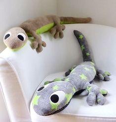 Salamander XXL * Kuscheltier, 1 Meter lang & schön weich * Anleitung und Schnittmuster - Nähanleitungen bei Makerist