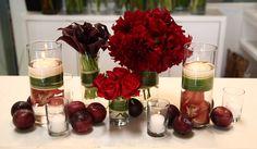 arranjo de mesa natalino
