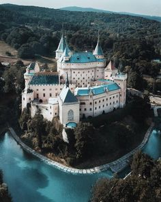 """Bojnice Castle - the """"fairy-tale"""" Bojnický zámok is one of the most visited and most beautiful castles in Slovakia Beautiful Castles, Beautiful Buildings, Beautiful World, Beautiful Places, Places To Travel, Places To See, Places Around The World, Around The Worlds, Fantasy Castle"""