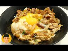 Oyakodon receita japonesa ovo e frango - YouTube Japanese Food, Mashed Potatoes, Breakfast, Ethnic Recipes, Youtube, Eggplant Lasagna, Fried Chicken, How To Make Salad, Cute Fish