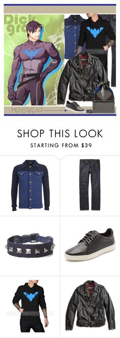 """""""Wardrobe Basics: Menswear"""" by yours-styling-best-friend ❤ liked on Polyvore featuring Vivienne Westwood Anglomania, Levi's, Valentino, rag & bone, Lucky Brand, Fendi, men's fashion, menswear, BloggerStyle and comics"""