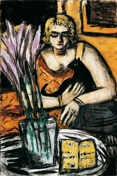 "Max Beckmann -  ""Woman with Cat"", 1942,"