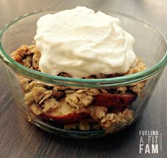 We usually have one dessert a week. I like to think about what I'm going to make several days beforehand, because I LOVE dessert. We had this apple crisp two weeks in a row, and we will proba…