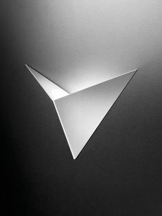 Origami inspired light fixture