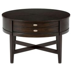 Jofran Kent County Round Cocktail Table   Brown