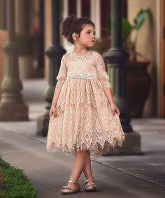 Adorable Light Brown Floral Dress for 16inch Sharon Dolls Formal Dress Accs