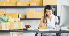 Young Asian small business owner working at home office, taking note on purchase orders. Online marketing packaging delivery, startup SME entrepreneur or freelance woman concept royalty-free stock photo Mobile Marketing, Content Marketing, Online Marketing, Digital Marketing, Marketing Tactics, Home Based Business, Online Business, Good Traits, Go It Alone