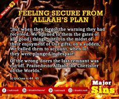 Major Sins in Islam Islamic Prayer, Know The Truth, Quran, Allah, How To Plan, Feelings, Holy Quran, Allah Islam