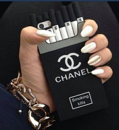 phone cover chanel black iphone 5 case iphone cases case jewels chanel phone case coco chanel black and white smoking kills channel iphone. Just Iphone Cases Cute Cases, Cute Phone Cases, Bling Phone Cases, Iphone 6 Cases, New Iphone, Iphone Phone, Phone Covers, Chanel Phone Case, Smoking Kills