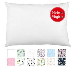 Hypoallergenic Toddler Pillow x - Available in White & Prints - No Pillowcase Needed - Ages 2 to 4 - Made in Virginia by A Little Pillow Company (White) Baby Pillows, Kids Pillows, Toddler Pillow, White Prints, White Nursery, Pillow Reviews, Perfect Pillow, Bedtime, Book Worms