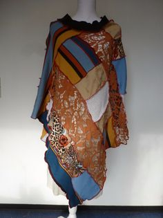 """Capes & Ponchos - Poncho """"Stripe"""" - ein Designerstück von AutumnFlowers bei DaWanda"""