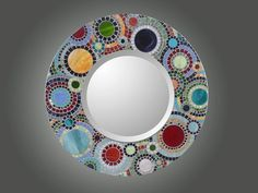 Stained Glass Spiral Mosaic Mirror painstakingly by olveradesign, $250.00