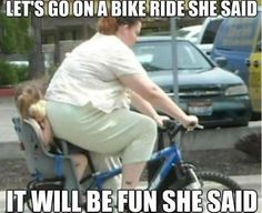 Oh MYLANTA!  This made me fall off my chair laughing.  I totally remember these STUPID chairs on my mom's bike.  I HATED them!!!