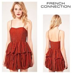 NWT French Connection dress French Connection sequin beaded cocktail dress with a full pleated skirt. Brand new with tags! Material: polyester.  Size: 4 Originally $398 French Connection Dresses
