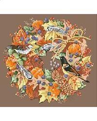 Fall Wreath       #crossstitch