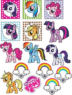 Free My Little Pony Party Printables invitations table