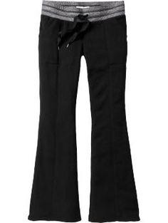 Old Navy Women's Micro Performance Fleece Bootcut Pants  So Cozy!!!