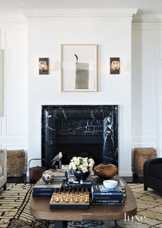 Marble design fireplace