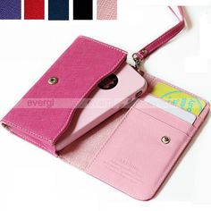 $4.99 Luxury Leather Wallet Bag Case Cover Card Slots for iPhone4 4G 4S 3G Smart Phone | eBay