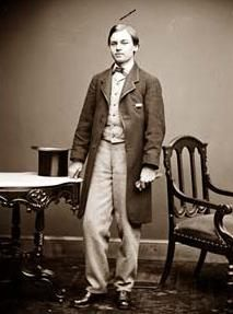 Dapper, dashing photograph of young Robert Lincoln, oldest son of Abraham and Mary.