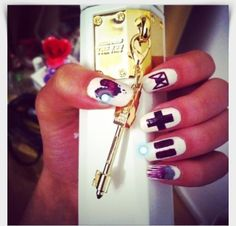 Justin Bieber Key manicure -- Which Fandom Has the Coolest Nail Art? | Twist