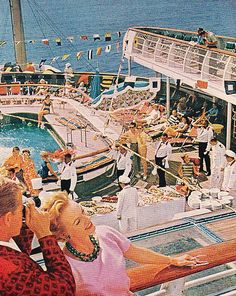 1962 cruise advertisement. This was what it was like the year I was born on a cruise ship.