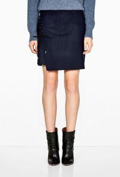 Lace Up Asymmetric Hem Skirt by Vanessa Bruno      Absolutely Love It!!!