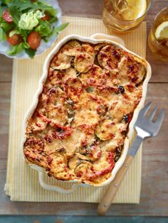 Von wegen italienischer Klassiker. Die Briten haben die Lasagne erfunden. Und wir die Zucchini-Lasagne.
