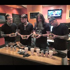 Day off from tour, working in the studio in Kentucky, making bad decisions. Meet the quadruple stack widow maker! #massive #hamburger #ffdp #FiveFingerDeathPunch #5fdp @ffdp @5fdpjapan @5fdp
