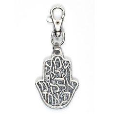 Key ring Shema Yisrael Hamsa grey #rilsar