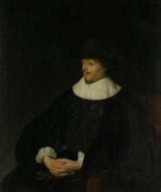Jan Lievens | Portrait of Constantijn Huygens, Jan Lievens, c. 1628 - c. 1629 | Portret van Constantijn Huygens, heer van Zuylichem. Secretaris van stadhouder prins Frederik Hendrik en dichter. Ten halven lijve, zittend in een stoel naar links, de handen gevouwen in de schoot.