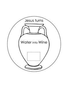 Water Into Wine Coloring Page | VBS-Jesus | Pinterest | Wine ...