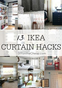 These ideas are genius! Save tons of money by customizing affordable IKEA curtain panels.