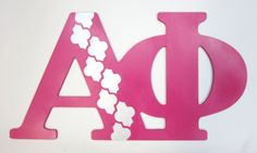 Moroccan Alpha Phi letters by Melissa's Custom Gifts!  #AlphaPhi #APhi #sorority #Greek #DIY