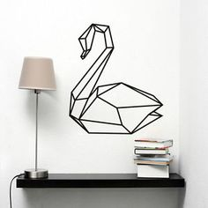 item condition new with tags geometric swan wall decal removable bedroom swan art mural animal wall stickerprice us 5