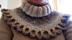 Shaded Collar - knit pattern for free, skill level:easy