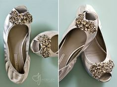Vera Wang Flats.. my dream wedding shoes.... what do you think about flats for the wedding?!