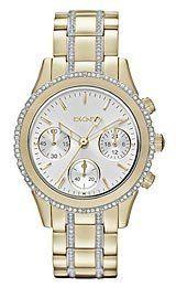 DKNY Chronograph with Glitz - Gold Women's watch #NY8707 DKNY. $217.79