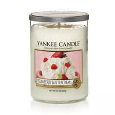 Yankee Candles Tumbler Candle - Large (Strawberry Buttercream)