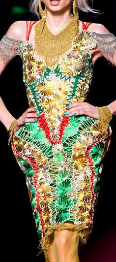 Jean Paul Gaultier. One of the most inventive dresses I've seen in a while.